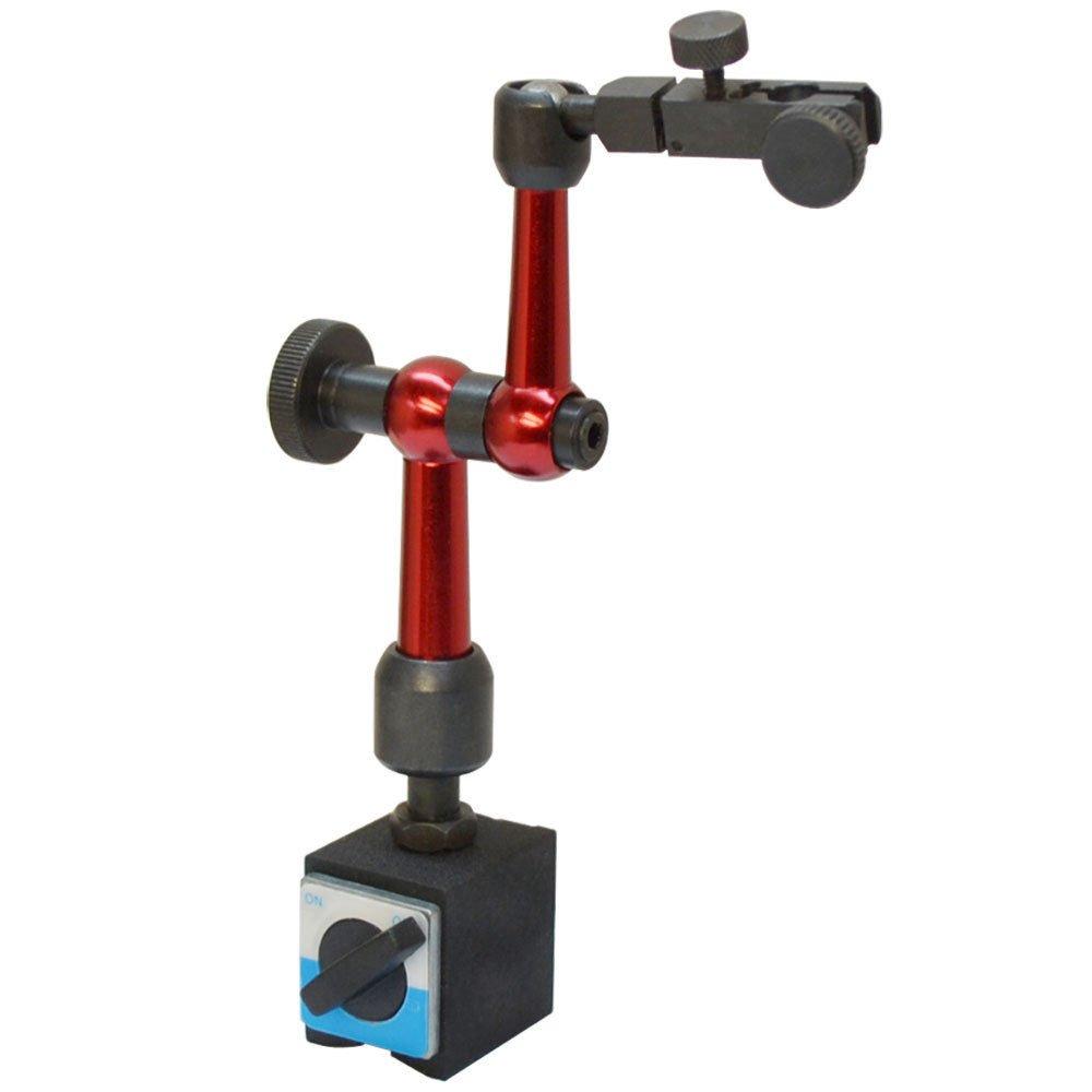 66 Lbs Cap. Mini Universal Magnetic Base Holder for Dial Indicator Fine Adjustment