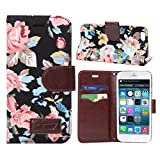 Changeshopping(TM)1PC Magnetic Wallet Flip Floral Leather Cover Case For iPhone 6