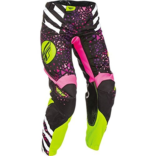 FLY RACING KINETIC WOMEN'S RACE PANTS NEON/PINK/HI-VIS SZ 9/10 371-63908
