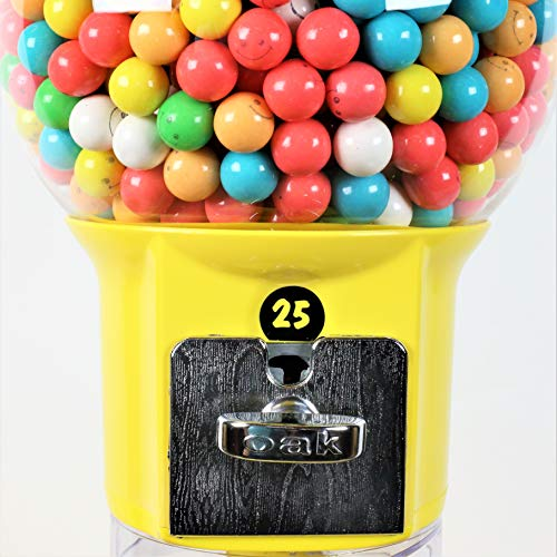 Spiral Gumball Machine Lil Wizard 27 inch - set up for $0.25 - Gumballs 1 inch - Toys in Round Capsules - 1'' Bouncy Balls 25 mm - Yellow Vending Gum Machine - Great Gift for Kids by Global Gumball (Image #5)