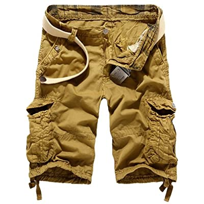 Juanshi Fathers Day Casual Cargo Short Color Khaki