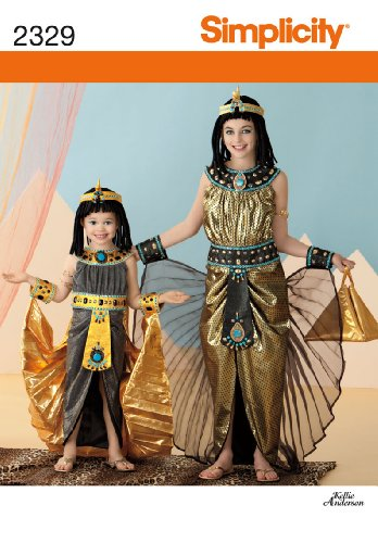 [Simplicity Sewing Pattern 2329 Child's and Girls' Costumes, K5 (7-8-10-12-14)] (Nefertiti Halloween Costumes)
