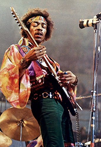 Jimi Hendrix Poster  Live In Concert  Playing Guitar