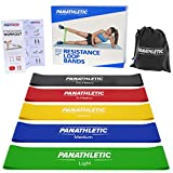 Resistance Loop Bands / Exercise Bands / Fitness Bands, Set of 5, with Exercise Guide, eBook and Carry Bag – 5x power body band, workout bands for yoga, rehab, crossfit, strength training, pilates