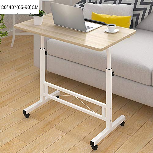 XUEXUE Computer Desk Desktop Home Laptop Desk Simple Modern Mobile Desk with Wheel Lift Bed Lazy Table Fashion Simple with Wheels Removable Home Offic Student Dorm,C (Overbed Table Top Composite)