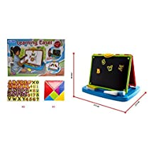 deAO Childrens Portable Tabletop Easel Quick Flip 2in1 Double Sid...