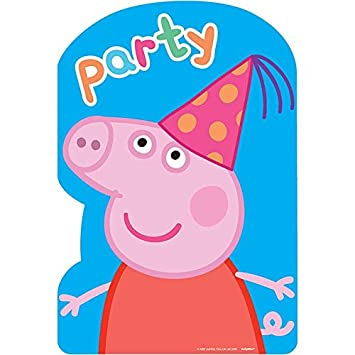 Nickelodeon Peppa Pig Birthday Party Postcard Invitations 16 Count With Save The Date Stickers