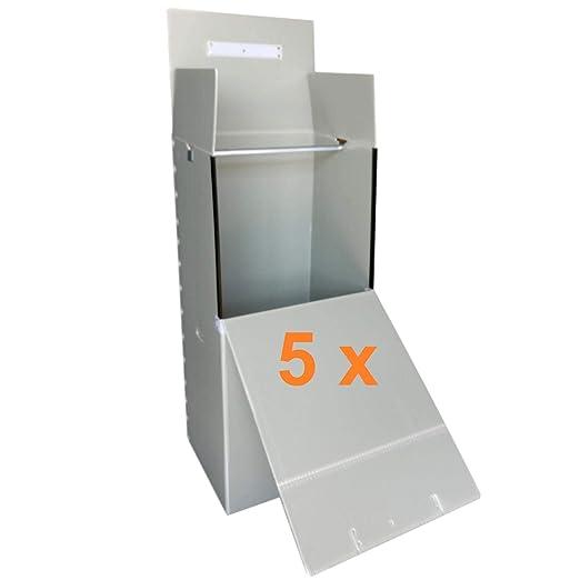 BuschiPack - 5 cajas para ropa (plástico, 135 x 60 x 50 cm ...