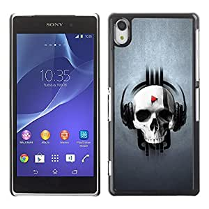 GagaDesign Phone Accessories: Hard Case Cover for Sony Xperia Z2 - Skull Beat Play
