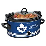 Crock-Pot NHL 6-Quart Manual Cook and Carry Slow Cooker, Toronto Maple Leafs, Pattern