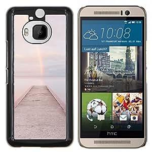 TECHCASE---Cubierta de la caja de protección para la piel dura ** HTC One M9+ M9 Plus ** --Playa Muelle Embarcadero Agua