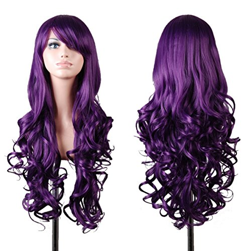 Rbenxia Curly Cosplay Wig Long Hair Heat Resistant Spiral Costume Wigs 32 80cm