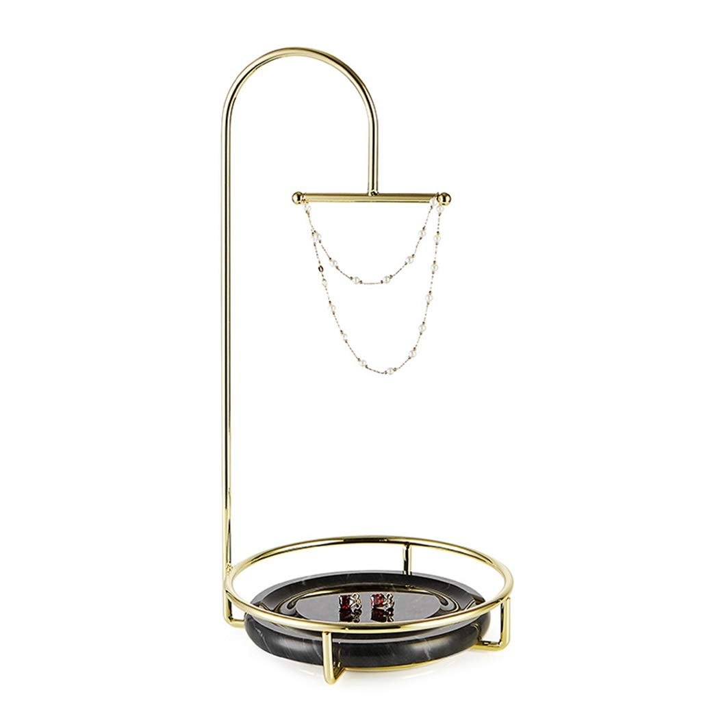 Jewelry rack Hanging Jewelry Organizers Jewelry Stand Creative Metal Tabletop Jewelry Display Stand Home Storage Pendant (Color : Gold, Size : 3517cm)