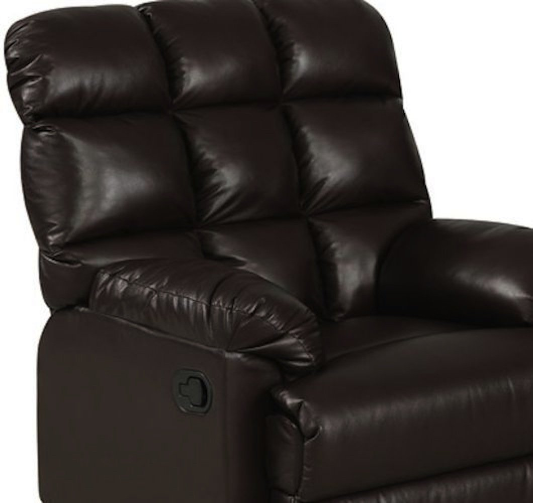 Amazon.com Leather Recliner Chair a Large Comfort Armchair Overstuffed Wall Hugger with Biscuit Ultra Comfort Back for Living Room on Sale - Best ... & Amazon.com: Leather Recliner Chair a Large Comfort Armchair ... islam-shia.org