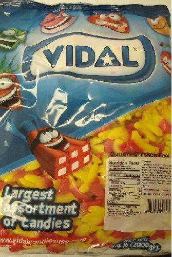 Vidal Gummi Chicken Feet Candy, 4.4Lb