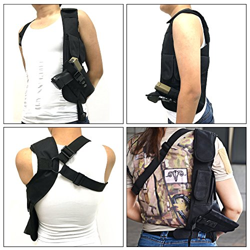 TEKCAM Tactical Underarm Shoulder Gun Holster Adjustable Concealed Armpit Pistol Holster with 5 Pouches for Outdoor Activities by TEKCAM (Image #4)