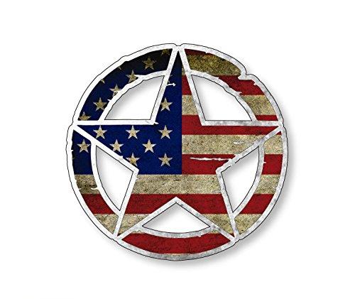 American Flag Army Star Vinyl Decal 4