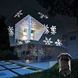 holiday outdoor projector - Christmas Projection Lights Led Projector Light, Kohree Outdoor Light Snowflake Spotlight 10 Pattern Sparkling White Landscape Lights for Holiday Party Waterproof