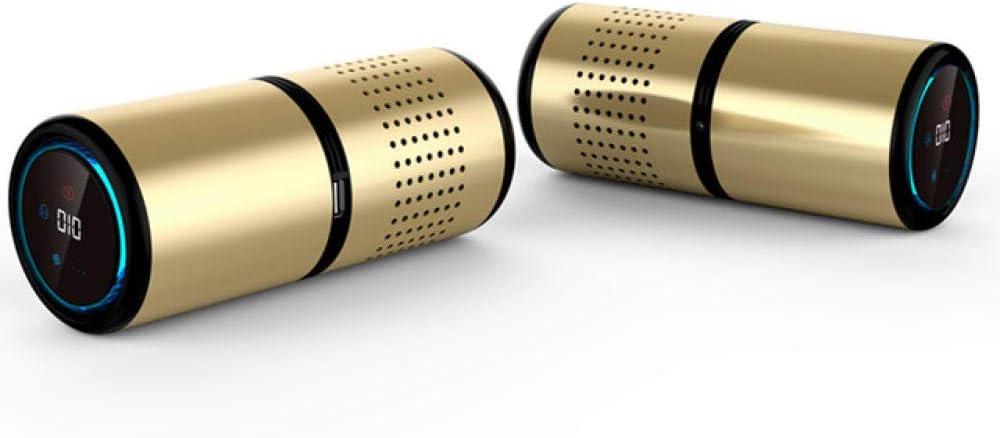 OOOO Purificador de Aire del Coche Ionizador de Cabina Ambientador Eliminador de olores Filtro de Aire Barra de oxígeno Limpiador iónico portátil USB Eliminar Olor Humo-Oro