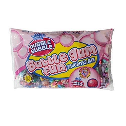 - Dubble Bubble Assorted Flavor Fun Favorites Gum Mix, 13.5 oz Bag