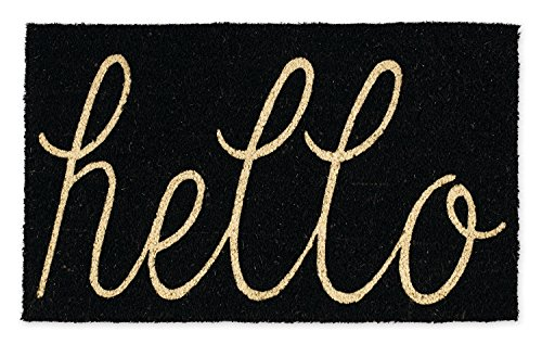 Rug Rain Black (DII Coir Outdoor Door Mat, 18 x 30