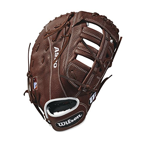 Wilson 2018 A900 First Base Mitts - Left Hand Throw Dark Brown/White, 12
