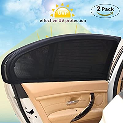 MONOJOY Car Rear Window Sun Shade, Car Window Shades for Baby, UV Protection Sun Shaede for Car Breathable Mesh Window Windshield for Baby, Vehicles Car Van Suv Accessories.