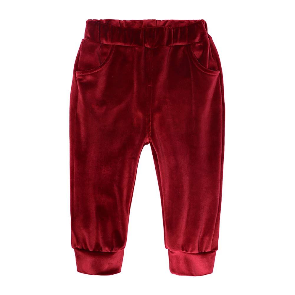 Morbuy Conjuntos Ropa Ni/ños Ni/ña Beb/é 2pcs Terciopelo Dorado Ni/ños Manga Larga Ropa Recien Nacido Tops Pantalones Navidad Halloween Trajes 1-8 A/ños