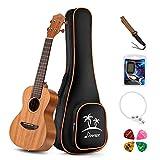 Donner Concert Ukulele Mahogany DUC-1 23 inch with Ukulele Set Strap Nylon String Tuner: more info