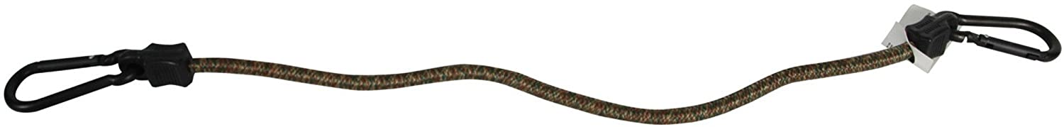 Highland 9419100 24 Camouflage Carabiner Bungee Cord BLK:94191