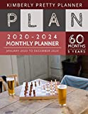5 year monthly planner 2020-2024: 60 Months