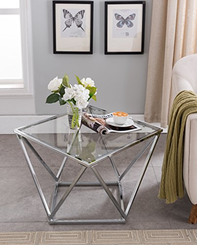 Chrome Finish/Glass Top Coffee Table 31