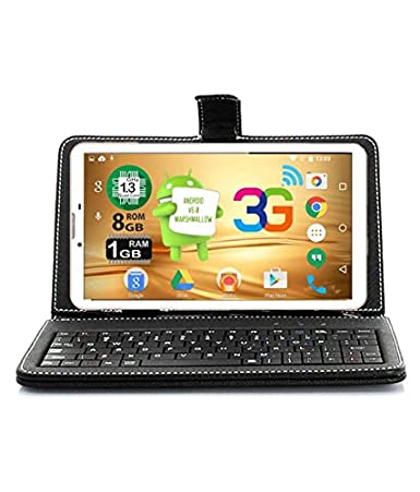 Ikall N9 Tablet with Keyboard  7 inch, 8 GB, WiFi + 3G + Voice Calling , White Tablets