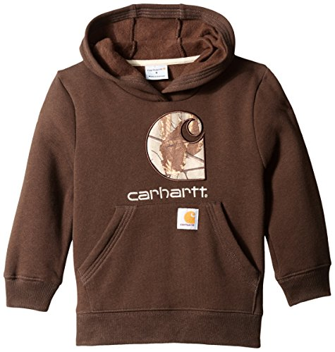 Mustang Embroidery (Carhartt Little Boys' Big Camo C Sweatshirt, Mustang Brown, 6)