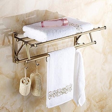 GFEI Toalla de baño Estilo Europeo Antiguo de Cobre/Rack Rack/Multifuncional baño Creativa Gancho Colgador de Toallas: Amazon.es: Hogar