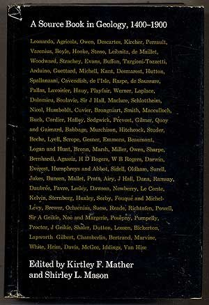 A Source Book in Geology, 1400-1900 (Source Books in the History of the Scien)