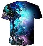Cutemefy Teen Boys Galaxy Tshirts Short Sleeve Nebula Star Graphic Tees