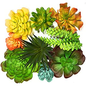 Trunnco 9 Designer Quality Large Faux Succulents Life-Like for Artificial Succulent Plants Arrangement 15