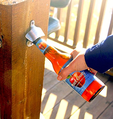 Wall-Mounted-Bottle-Opener-Brushed-Stainless-Steel-by-Sky-Solutions-with-Free-Mounting-Screws-Classic-Vintage-Wall-Beer-Bottle-Openers