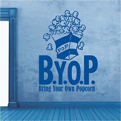 P/b Decorative Glass Doors - Iupoax Room Wall Stickers Quotes B.Y.O.P. Buy Your Own Popcorn for Theater Home Theater