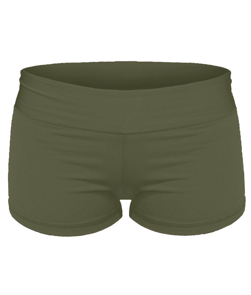 Epic MMA Gear Spandex Yoga Booty Shorts (S/6, Army Green) by Epic MMA Gear