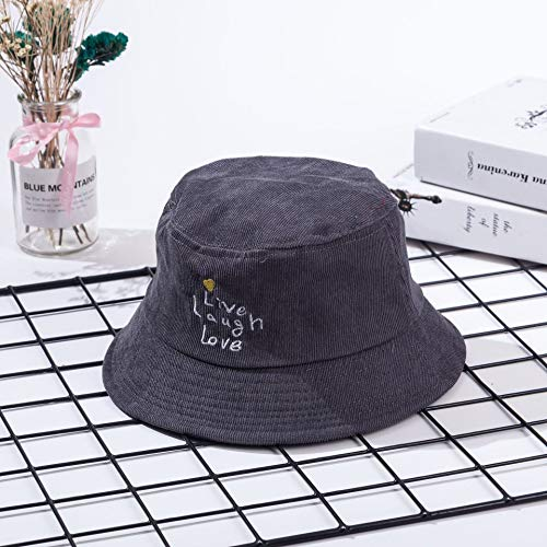2018 Winter New Children's hat,Ins Corduroy Embroidered Letters for Men and Women Casual, Love Dark Gray
