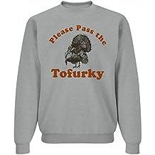 Customized Girl Thanksgiving Tofurky: Unisex Jerzees Crewneck Sweatshirt