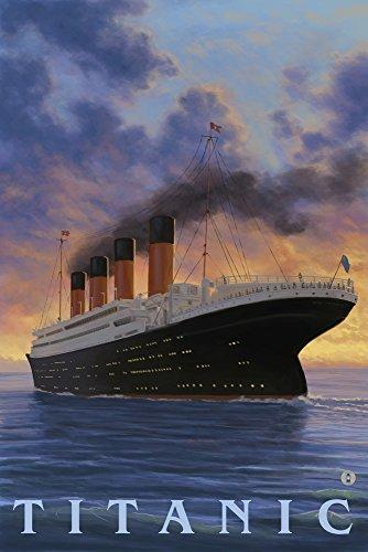 (Titanic - White Star Line (9x12 Art Print, Wall Decor Travel Poster))