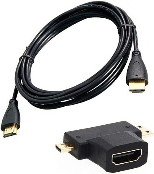 Nowear 1,5 m 3 en 1 HD Mini Adaptador/Micro Cable HD HD Cable de ...