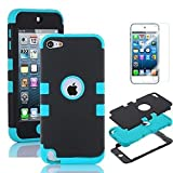 iPod Touch 5 Case, iPod Touch 6 Cases, NOVPEAK 3 Layer Hard and