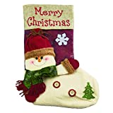 BurjAE Classic Christmas Decoration Socks with Snowman Character for Children Gift Fireplace Ornaments