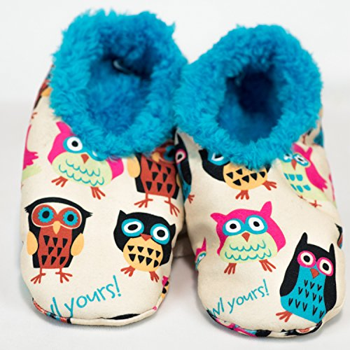 Lazy One Owl Yours Fuzzy Feet Womens Slippers