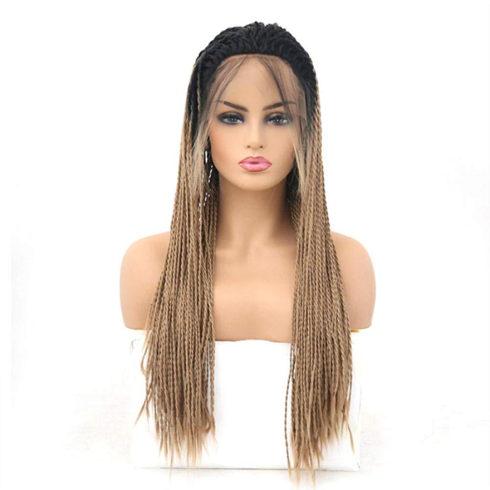 ventas al por mayor Maramma Peluca delantera de de de Dreadlock con diseño degradado de Brwon con encaje negro para mujer negra de 70 cm Cosplay Partido Peluca del sintética suave Color natural peluca de las mujere  Descuento del 70% barato