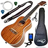 Ukulele Concert Size Bundle From Lohanu (LU-C) 2 Strap Pins Installed FREE Uke